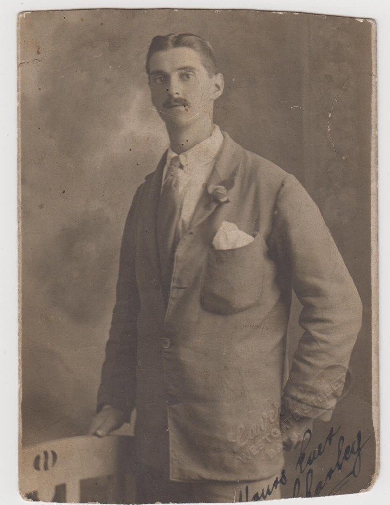Charlie Charlton in convalescent clothes - some time after 1919.
