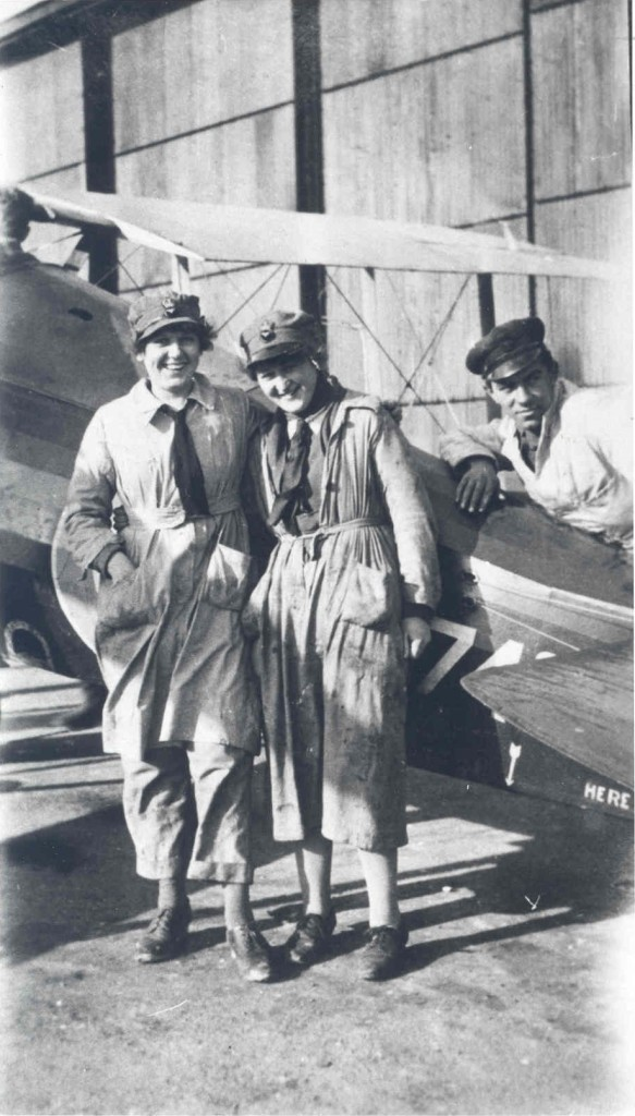 Marjorie Peers with a friend at Stonehenge Airfield. With kind permission of Birmingham Archives and Heritage
