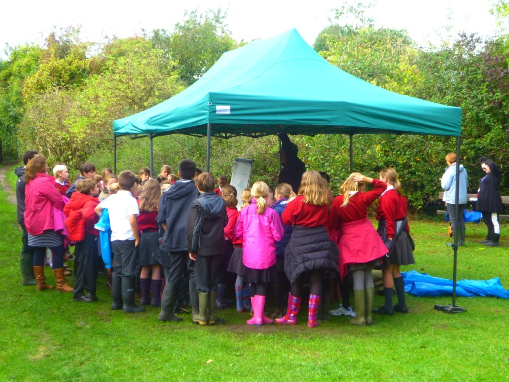 Children from Corsham Primary School listening to Steve Williams (October 2014)