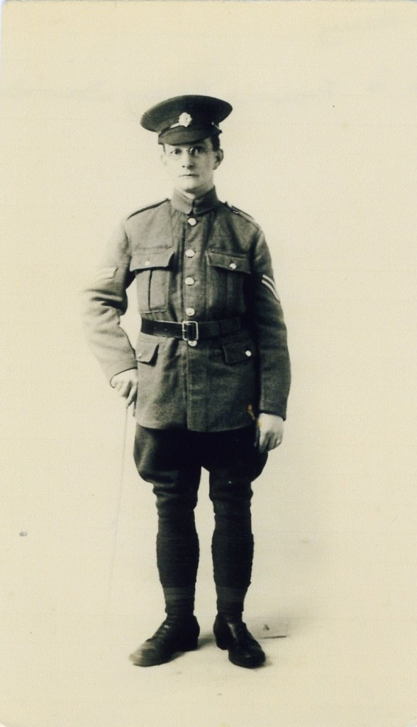 F Simmons, Harold's father who in January 1918 was serving in the RASC. Sadly, son Harold died in August 1918 and father and child would not see each other again.