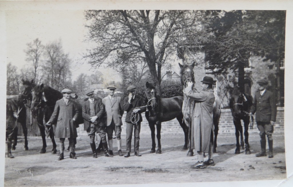 Horses bound for the Purton Remount Depot. The man with the bowler hat is probably William Robson, who had a gift for retraining 'problem' horses for service at the Front.