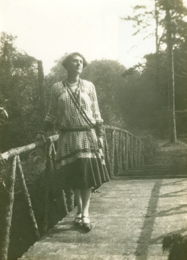 Edith Olivier, pictured at Bow Bridge, Wilton Park, was instrumental in pushing forward the role of women on farms in Wiltshire during WWI.