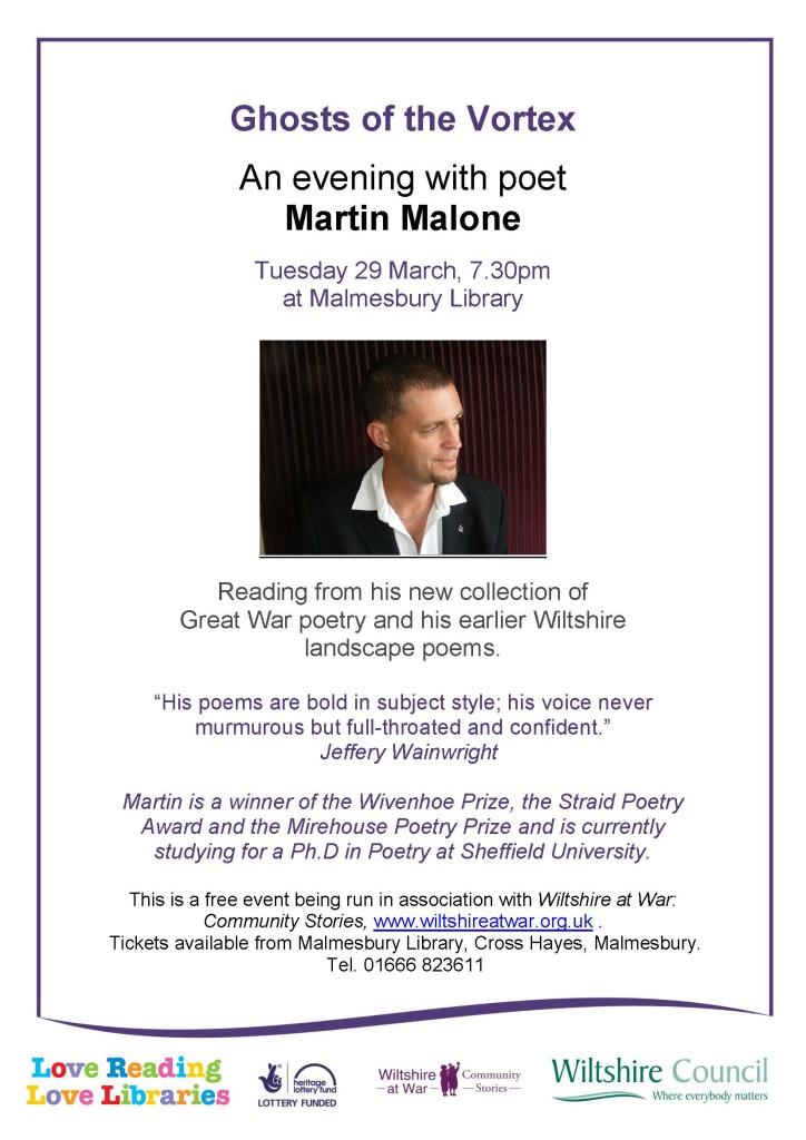 Martin Malone poster 16 03 29