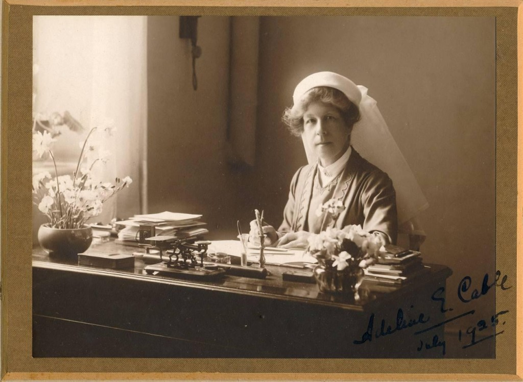 Miss Adeline Cable who was Matron of the Infirmary during the war. She received the decoration of the Royal Red Cross for her services. (Credit: Salisbury Medical Society.)