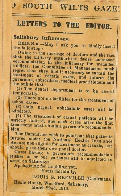 Credit: Salisbury Medical Society