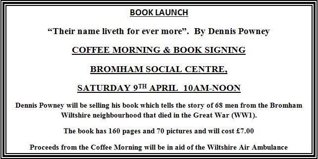 Dennis Powney book launch