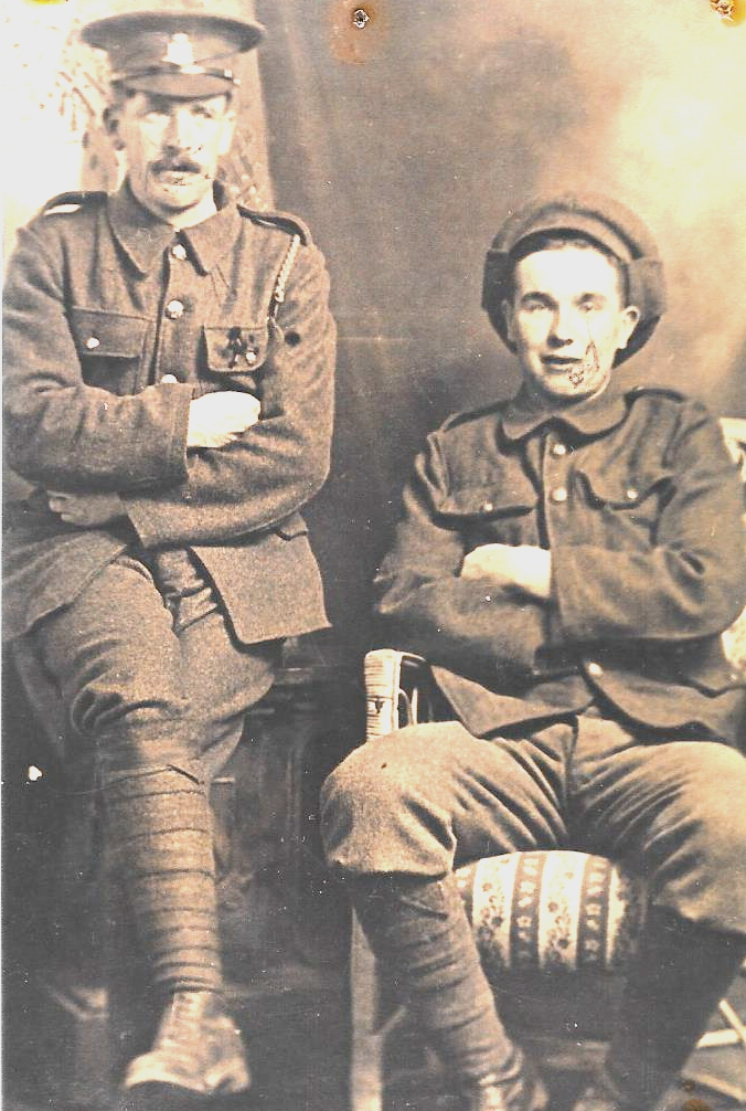 Charles James Newman on right, possibly Alf Brown on left
